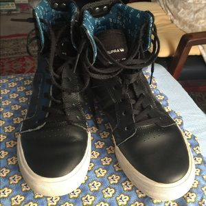 Supra boys Sneakers size 5 Black Leather